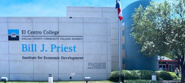 North Texas SBDC Regional Office is located in the Bill J. Priest Institute